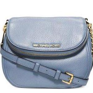 Michael Kors Bedford Pebble Leather Crossbody Blue